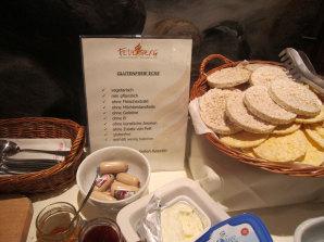 Gluten-und laktosefreie Speisen beim Frühstück