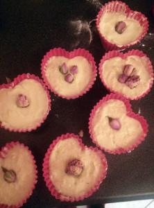 fertig dekorierte Bademuffins