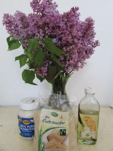 Zutaten Zuckerpeeling mit Flieder