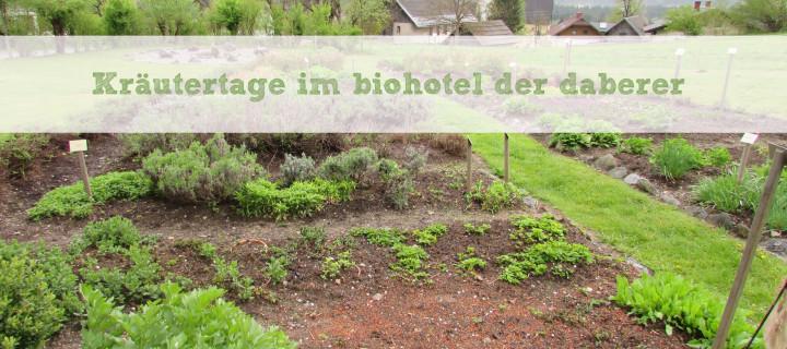 Kräutertage im biohotel – der daberer