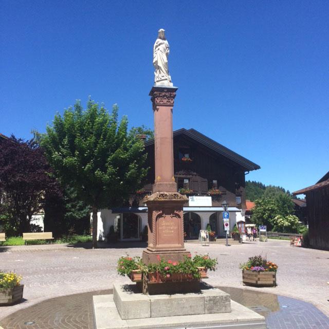 Der Hauptplatz von Oberstaufen