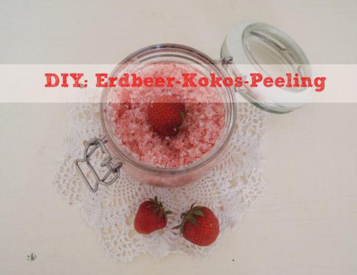 DIY: Erdbeer-Kokos-Peeling